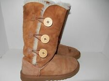 WOMENS UGG 1873 Bailey Button Triplet Chestnut Boots size USA 5