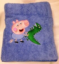 EMBROIDERED BATH  TOWEL  - ' PEPPA GEORGE PIG '