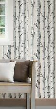"12""/31cm Wallpaper SAMPLE Birch Trees NU Wallpaper Peel and Stick NU1650"