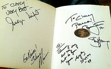 Eddie DeBartolo Steve Young Ronnie Lott SF 49ers Signed Autograph Football Book