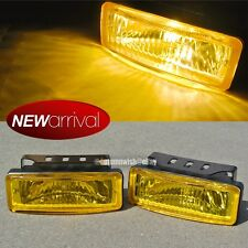 Fit Edge 5 x 1.75 Square Yellow Driving Fog Light Lamp Kit W/ Switch & Harness