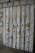 Tableau mariage shabby chic legno oro plan de table mariage table seating plan