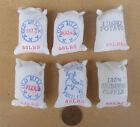 1:12 Scale 6 Small Cloth Food Sacks Dolls House Miniature Kitchen Shop Accessory