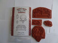 The Greeting Farm Mounted Cling Rubber Stamp SITTING CUTE SCRAPBOOKING
