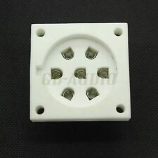 2pcs ceramic P7A 7pin chassis mount tube socket for E2d,C3b,C3d,Ec,Ed,E2b