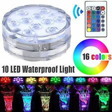 Battery Operated 2.8inch Waterproof Submersible RGB LED  Vase Light Base Remote