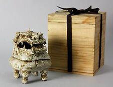 Japanese Shishi Lion Koro Incense Burner Ko-Seto Kiln H4