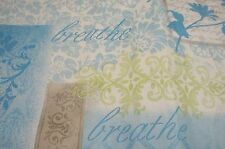 Vinyl Flannel Back Inspirational Tablecloth 52 X 90 Inspire Dream Love Blue #109