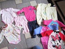 NEW HUGE LOT/12 BABY GIRL CLOTHING CARTERS SLEEPERS ROMPERS+ 3-6 MONTH DISNEY