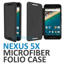Official Genuine LG Google Nexus 5X Folio Case Microfiber Flannel Flip Cover