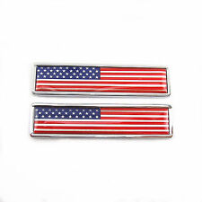 Stainless Metal Stars and Stripes Flag of United States Emblem For Honda Wing