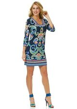 $138 Laundry by Shelli Segal Three Quarter Sleeve Square Neck Printed Dress.SZ:6