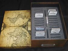 Coin Storage Box World Map for NGC PCGS Slab Certified Holds 33 Coins