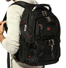 "Men's 15"" Laptop Backpack Rucksack Notebook Hiking Shoulder Travel School Bag"