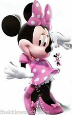 "Disney Minnie Mouse Clubhouse Wall Sticker GIANT 33"" + FREE 16"""