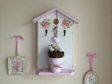 Hand Made Bird House Key Holder With Nest and Faux Eggs