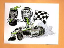 """GAS MONKEY GARAGE ENERGY DRINK STICKER INDY CAR INDIANAPOLIS 500 3-1/2"""" BY 5"""""""