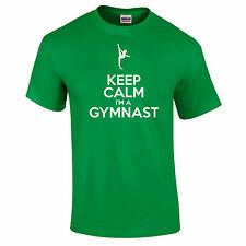 Keep Calm soy gimnasta Athletic Contorsionista Regalo Divertido Camiseta s-5xl