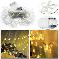 Battery Powered String Light Silver/Copper Wire Lamp EL Neon LED Xmas Party Lamp