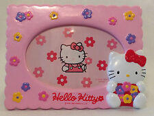 Rare Hello Kitty Pink Flower Ceramic Picture Photo Frame, 1994, NEW IN BOX