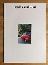BMW 3-series Saloon E36 brochure 1992 - 316i, 318i, 320i, 325i