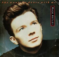"""RICK ASTLEY """"SHE WANTS TO DANCE WITH ME"""" 45 SINGLE 1988 rca"""