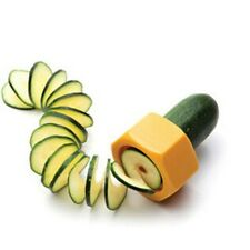 Fun Spiral Slicer Cucumber Courgette Zucchini Peeler Cooking Gadgets Orange