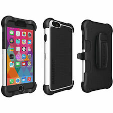 Ballistic MAXX Case w/Holster Clip for iPhone 6 Plus iPhone 6s Plus White/Black