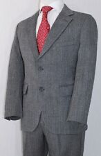 Gray Herringbone BROOKS BROTHERS BROOKSGATE Thick Winter Wool 2 Button Suit 38S