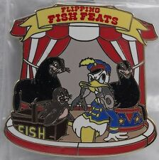 Disney WDW Event Mickey'S Circus Pin LE 500 Flipping Fish Feats Donald Duck