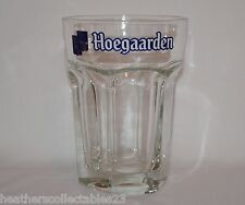 Large Hoegaarden Belgian Beer Glass 50 cL Hexagon Shape