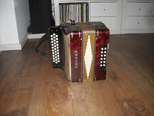Hohner corona, G/C/F, melodeon, used condition