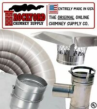 "4"" x 25' Flexible Chimney Liner Pellet Tee Kit - .006 316 Stainless Steel Liner"