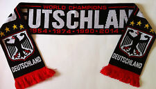 Germany WORLD CUP WINNERS 2014 Football Scarf NEW Black