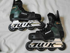 Bauer Breakout Biax Series NHL Inline Roller Hockey Skates TUUK mns 4.5 wmns 6.5