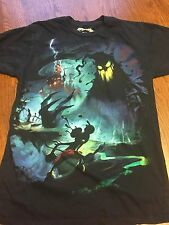 Disney Epic Mickey Mouse With Paintbrush Scary Shirt Size M