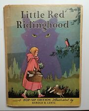 Rare 1933 Pop-UP LITTLE RED RIDING HOOD Illust 1st Harold Lentz Blue Ribbon VG