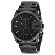 Diesel Master Chief Black Dial Black Stainless Steel Bracelet Mens Watch DZ4180
