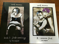 WET MOON ROSS CAMPBELL SET. BOOK 1 FEEBLE WANDERINGS 2.UNSEEN FEET