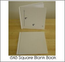 ALL PLAIN BLANK WHITE HARD COVER STUDENT BOOKS TO SELF ILLUSTRATE 6X6 (28) PGS.