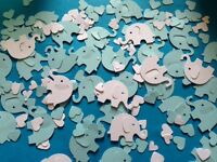 500+ baby pink blue elephant heart christening shower table decorations confetti