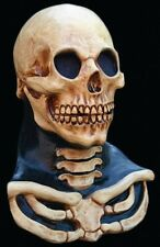 Long Neck Skull Latex Mask Bone Skeleton Halloween Ghoulish Productions Adult