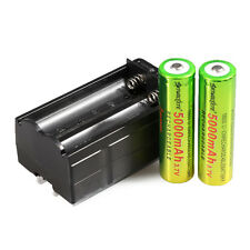 2pcs SKYWOLFEYE 3.7V 5000mAh Li-ion Rechargeable 18650 Battery +1x  Daul Charger
