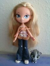 Girlz Girl Bratz Kidz Kid Cloe Doll Blonde Hair Blue Eyes OriginalClothes Shoes
