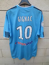 Maillot OM MARSEILLE Adidas GIGNAC CHAMPION 2010 away football shirt XL bleu