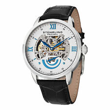 Stuhrling Original Men's 574 01 Executive II Automatic Black Leather Strap Watch