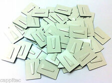 PACK OF 50 ADHESIVE METAL CABLE CLIPS SIZE MEDIUM 25mm x 36mm FOR 8mm CABLE