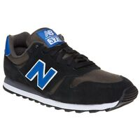 New Mens New Balance Black 373 Suede Trainers Retro Lace Up