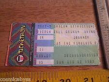 JOURNEY VINTAGE 1983 concert ticket CA area