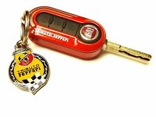 Fiat Abarth 500 695 Tributo Ferrari Metal Keyring & Key Cover Genuine